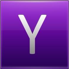 Letter Y violet