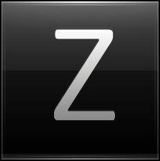 Letter Z black