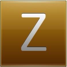 Letter Z gold