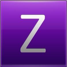 Letter Z violet
