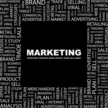 marketing concept background texts layout black white design