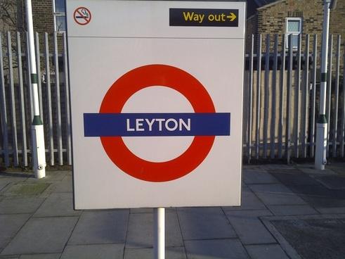 leyton london underground sign