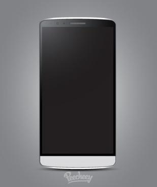 lg smartphone mockup realistic design