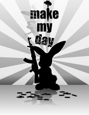 Liakad Rabbit Gun clip art