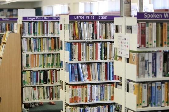 library bookcase books