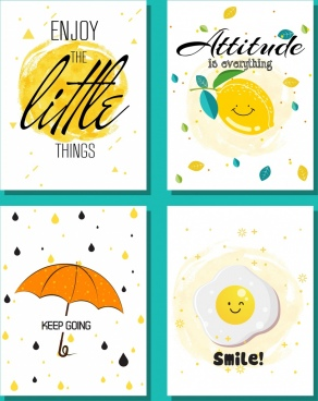 life message banner cute handdrawn decor pages isolation