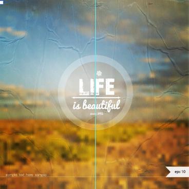 life summer blurs background vector