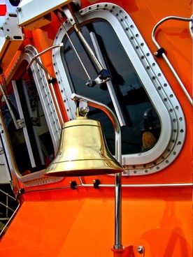 lifeboat  brass bell shipping rescue boat