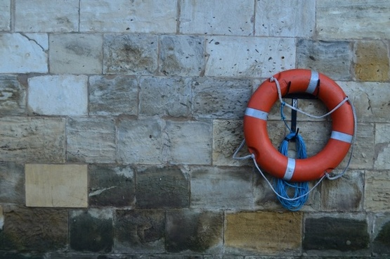 lifebuoy on the wall