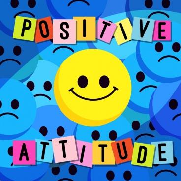lifestyle banner attitude theme positive negative emoticons