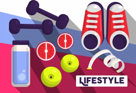 lifestyle banner gym design elements decor