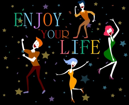 lifestyle banner joyful human icon stars decor