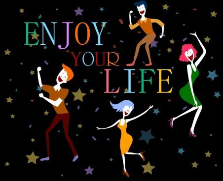 lifestyle banner joyful human icon stars decor