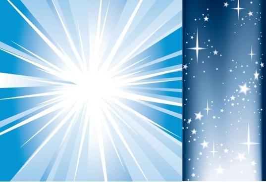 light and starlight vector