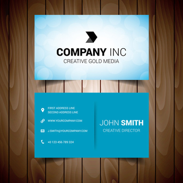 light blue corporate business card