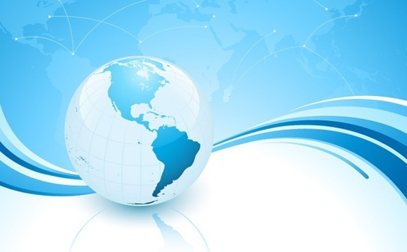 globe background 3d blue bright decor