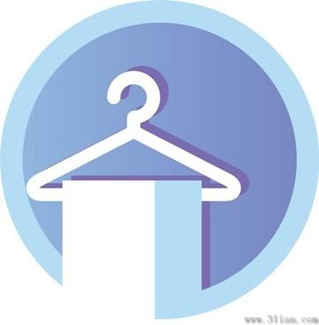 light blue towel hanger icon vector