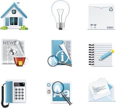 digital icons templates shiny modern symbols design
