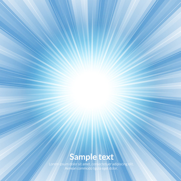 light burst blue abstract background