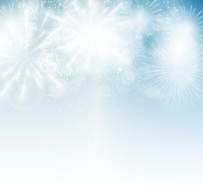 light colored fireworks background art vector