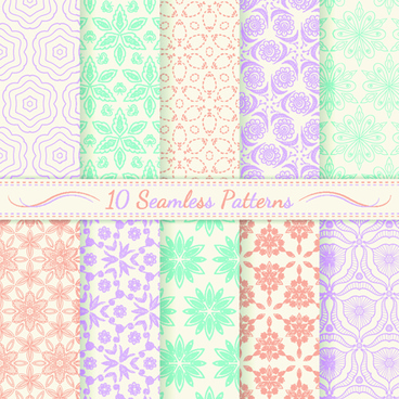 light colored seamless pattern creative graphics vector