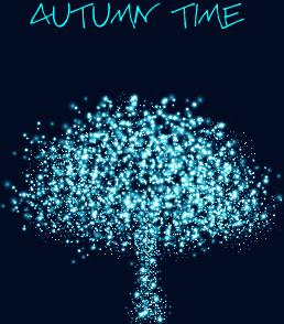 light dot autumn tree vector background
