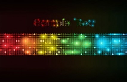 light dot neon background vector