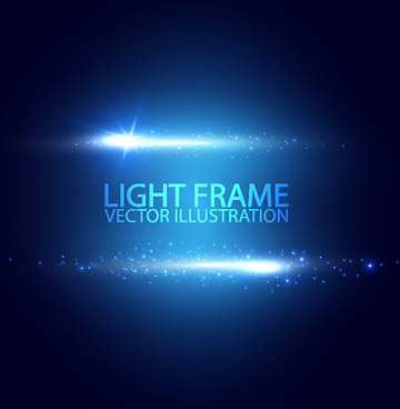 light frame vector background