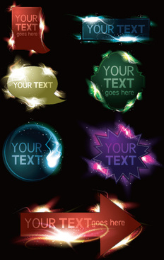 light labels for you text vector