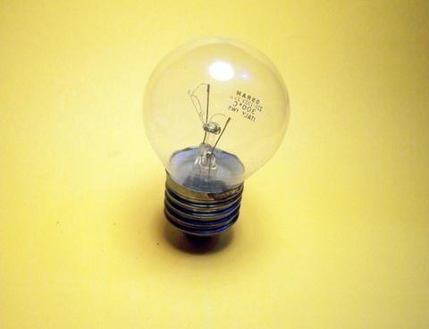 light light bulb yellow
