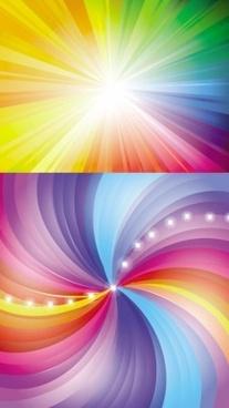 light radiation background shiny vector