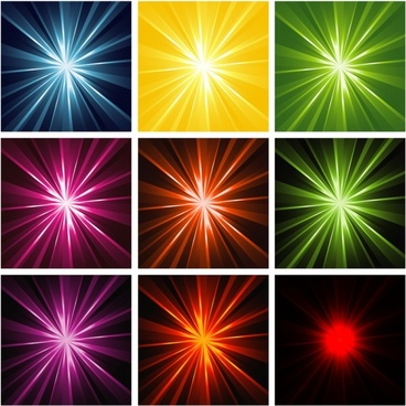 light rays background collection colorful design style