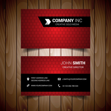 Red business cards vector free vector download 27896 free vector light red business card reheart Images