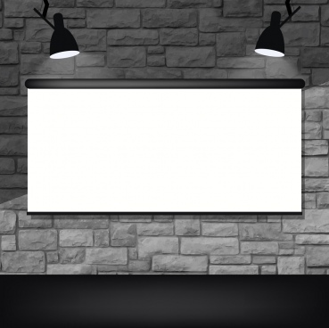 light screen background black white mockup decor