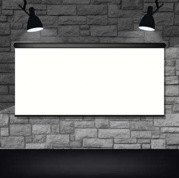 light screen background black white mockup decor