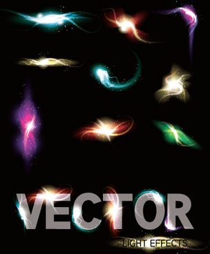 light smoke effects design vector