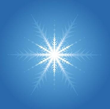 bright snowflake background design blue decoration dazzling style