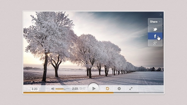 Light Video Player PSD