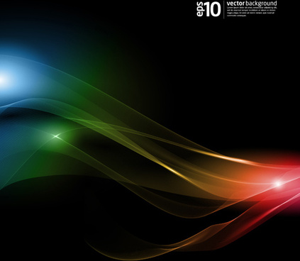 light with dynamic lines vector backgrounds art