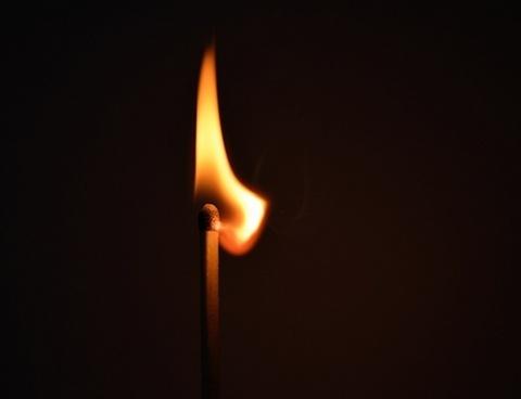lighted match