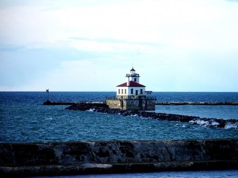 lighthouse on lake
