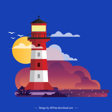 lighthouse painting colorful decor classical design