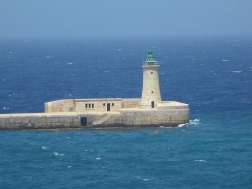 lighthouse sea harbour entrance