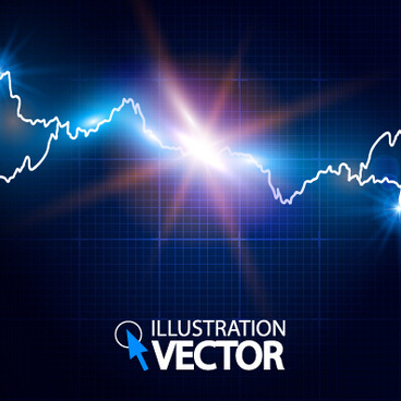 lightning effect blue background vector