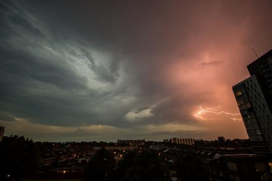 lightning over groningen