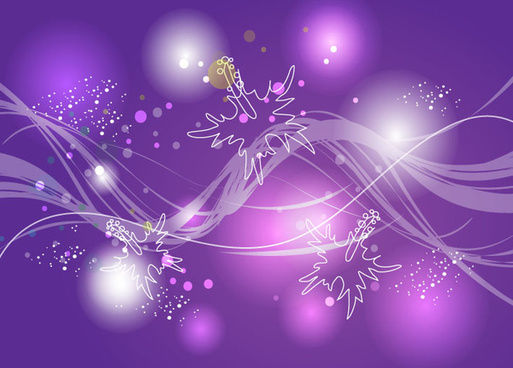 lights purple background