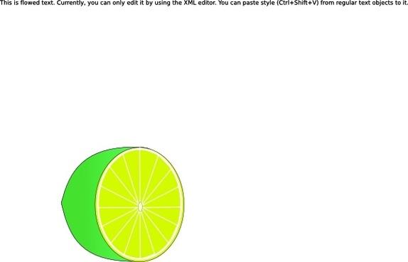 Lime Half clip art