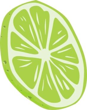 Lime (slice) clip art