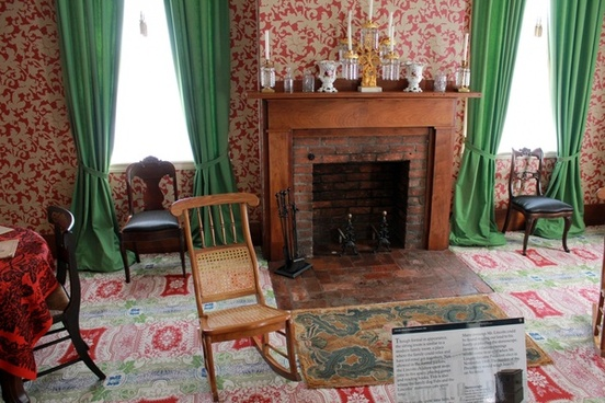 lincoln039s living room at lincoln home in springfield illinois