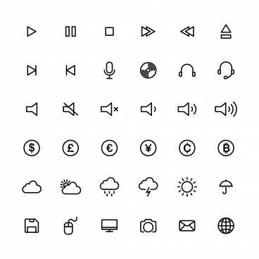 line art icon set vector template illustration design editable eps 10